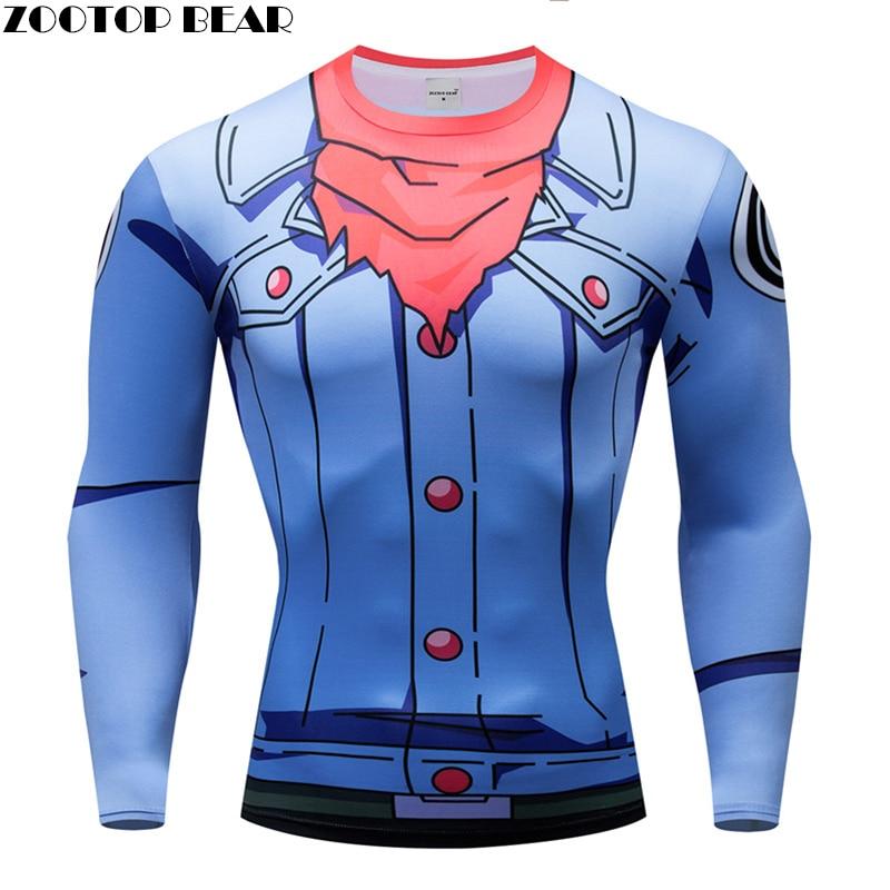 Superman t shirts Men Compression T-shirt Long Sleeve Tops Captain American tshirts 3d Tops Tees Fitness Drop Ship ZOOTOP BEAR