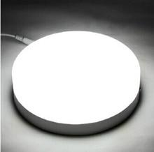 Panel cuadrado LED redondo para Techo Luz descendente 6W 12W 18W 24W AC85-265V lámpara de techo montada en superficie LED es 2835SMD aluminio PCB
