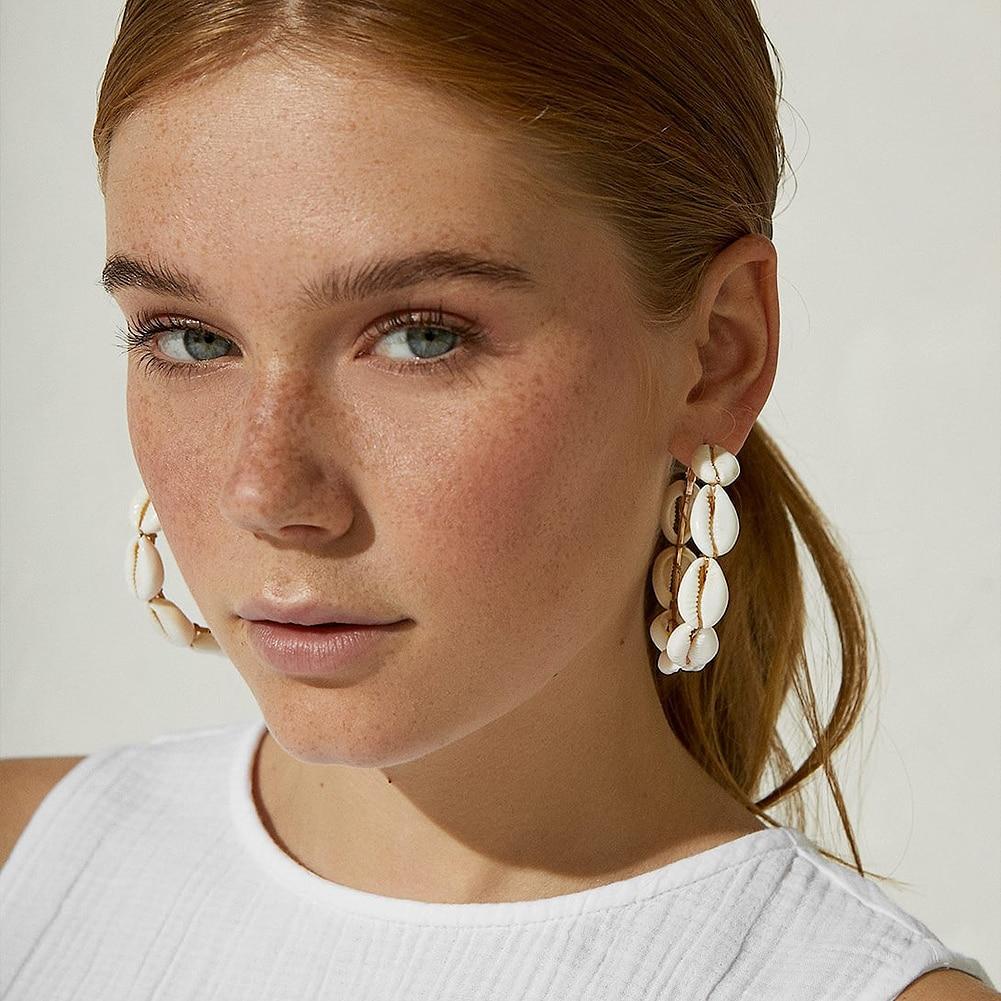 aliexpress.com - Flatfoosie 2019 Natural Conch Shell Dangle Drop Earrings For Women Bohemian Wedding Gifts Trendy Summer Pendant Earrings Jewelry