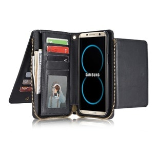 Luxury 2 in 1 Multi-functional case For samsung galaxy s8 Plus Megnetic Detachable Wallet Flip Cover For S8 Leather Case