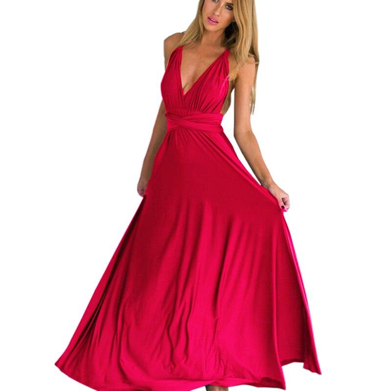 Vestido cruzado multiforma Convertible Boho Maxi Club Bandage vestido de fiesta damas de honor Vestido Infinito mujer recién llegado