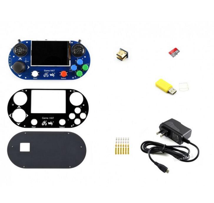 Paquete de accesorios Raspberry Pi G que incluye gorra de juego, tarjeta Micro SD, adaptador de corriente, etc.