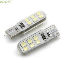 2 Pcs T10 W5W Waterdicht 2835 12 Smd Wedge Licentie Licht Plaat Lamp Side Richtingaanwijzer Drop Shipping