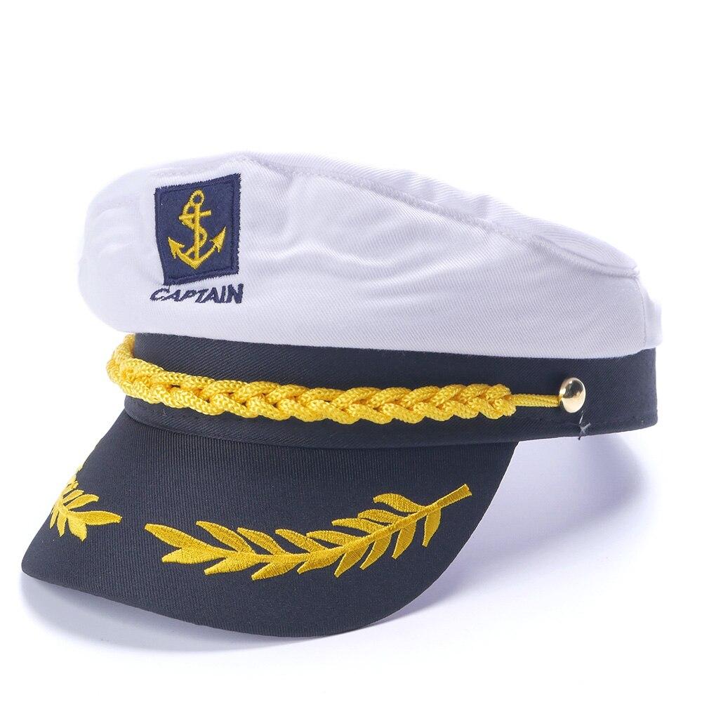 Белая шляпа для яхты, Морской капитан, морпех, морской шапка, костюм для взрослых