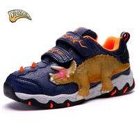 Dinoskulls boy's dinosaur sneakers children light sports shoes boys illumious shoes kids cartoon shoes autumn new 27-34#