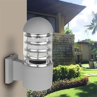 led outdoor lighting aluminum glass lampshade led wall light fixtures ip65 wall lamp ac 85 240v with e27 bulb