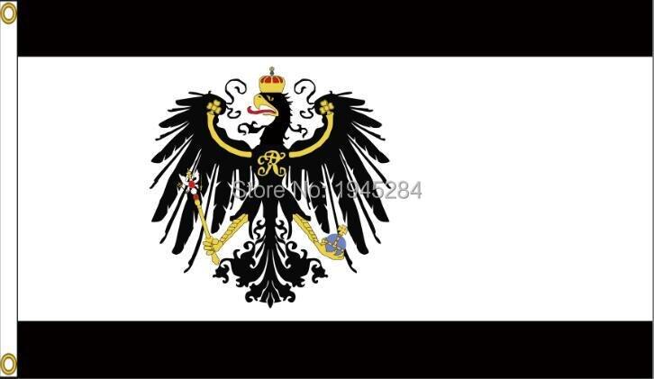 Kingdom of Prussia Prussian Alemanha Alemão Guerra 3x5ft Bandeira Da Bandeira 90x150 cm Poliéster 9780, frete grátis