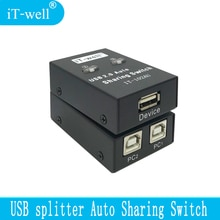 Usb-разветвитель, автоматический переключатель, компьютерная периферийная система для 2 компьютеров, 1 устройство для принтера, usb-концентратор, принтер sharer IT-102AU