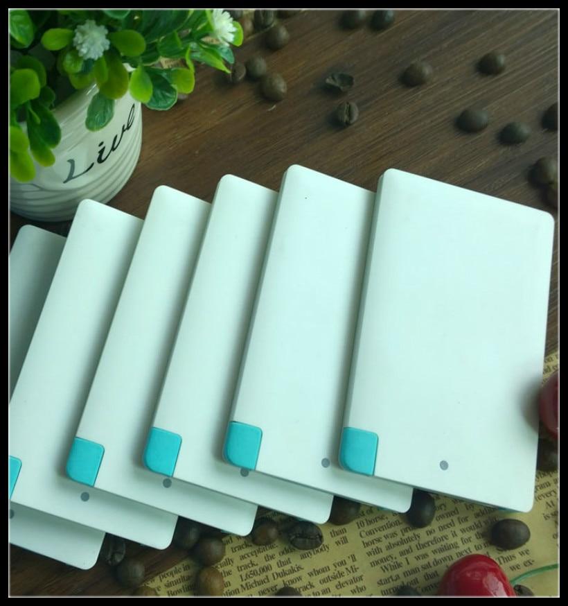 1 piece Card Shape Super Mini Portable Charger Slim Body Power bank 2500mAh powerbank polymer portable external Powerbank