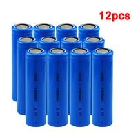 1/2 /4/8/12Pcs/Set AA 14500 1300mah 3.7 V Lithium Ion Rechargeable Li-ion Battery for Led Flashlight Headlamps