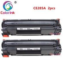Colorink 2Pack CE285A 285A 85A Toner Cartridge Voor Hp Laserjet Pro P1102 M1130 M1132 M1210 M1212nf M1214nfh M1217nfw Printer