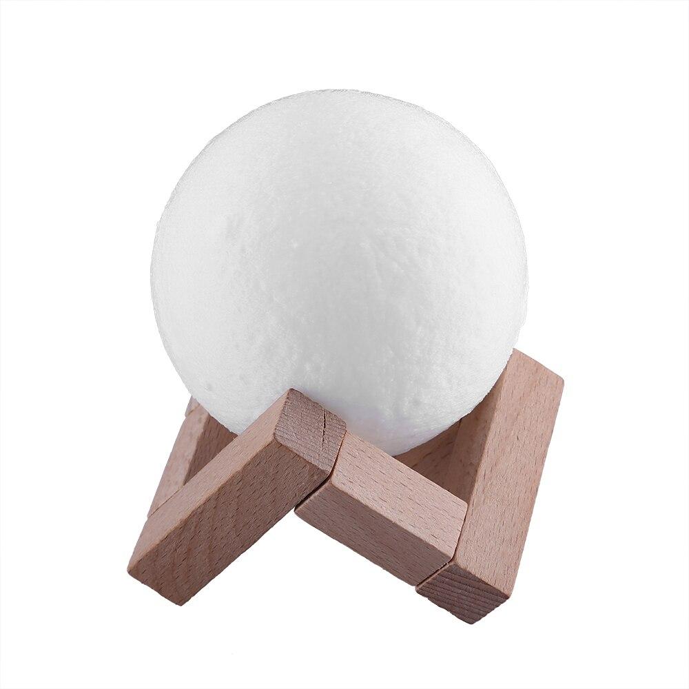 مصباح led على شكل قمر مع مؤقت وجهاز تحكم عن بعد ، قابل لإعادة الشحن ، مع 16 لونًا مختلفًا ، إضاءة زخرفية داخلية ، مثالي لغرفة النوم أو كهدية إبداع...
