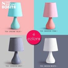 Petite taille moderne minimaliste lampe de Table Macaron nuit alimentation petit veilleuse LED petite lampe de table petite lampe de bureau