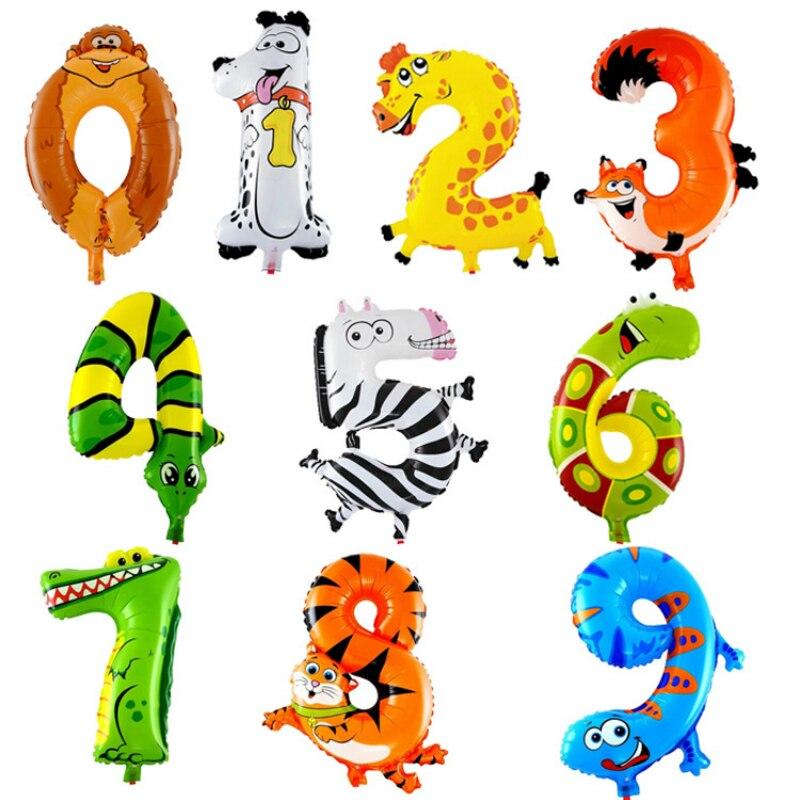 16 дюймов Животного Цифровой алюминиевые воздушные шары на день рождения