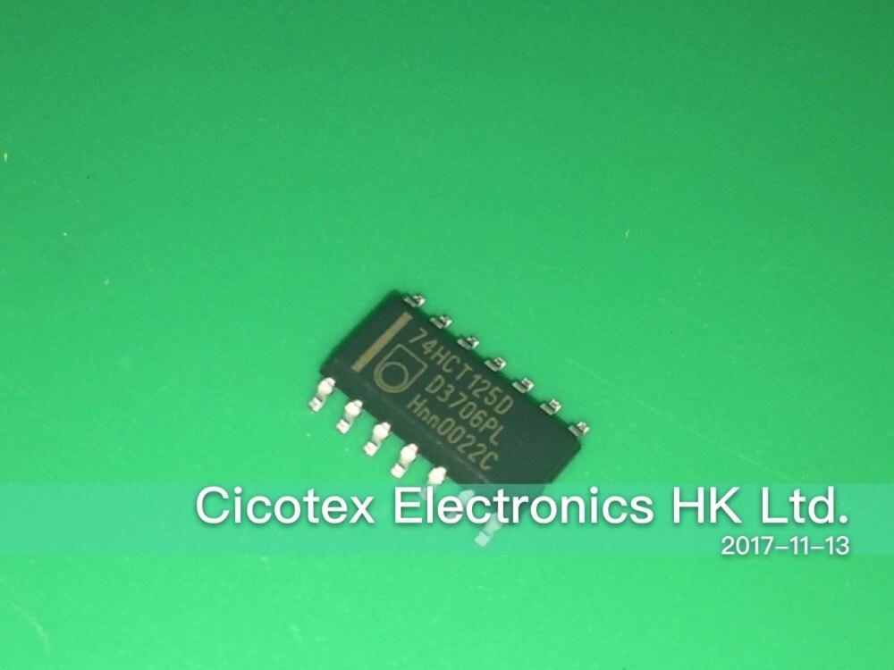 30 unids/lote 74HCT125D 74HCT125 125 SOP14 IC BUFFER DVR TRI-ST QD 14SOIC HCT125D