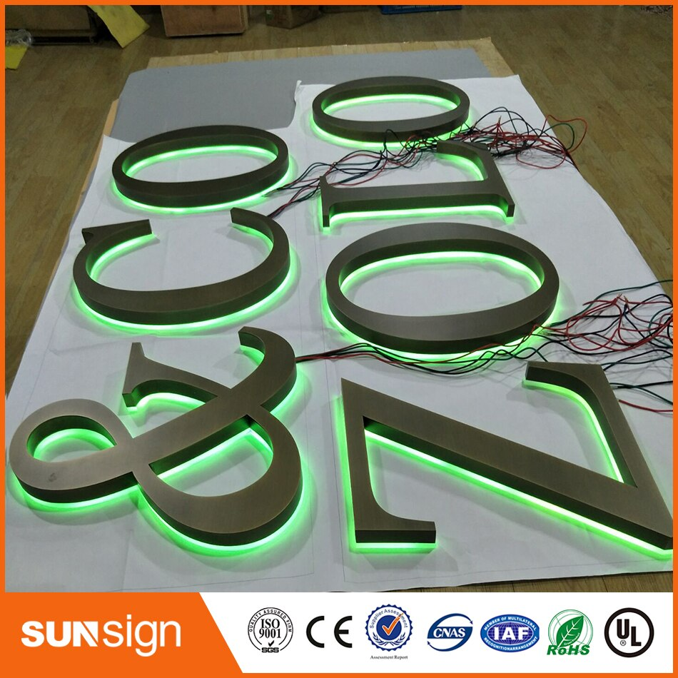 Factory Outlet outdoor advertising backlit Stainless steel led letter signs недорого