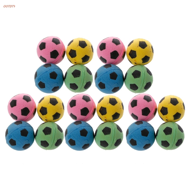 OOTDTY 20 шт не шумящий Кот EVA мяч мягкая пена футбольные игровые мячи для когтеточки