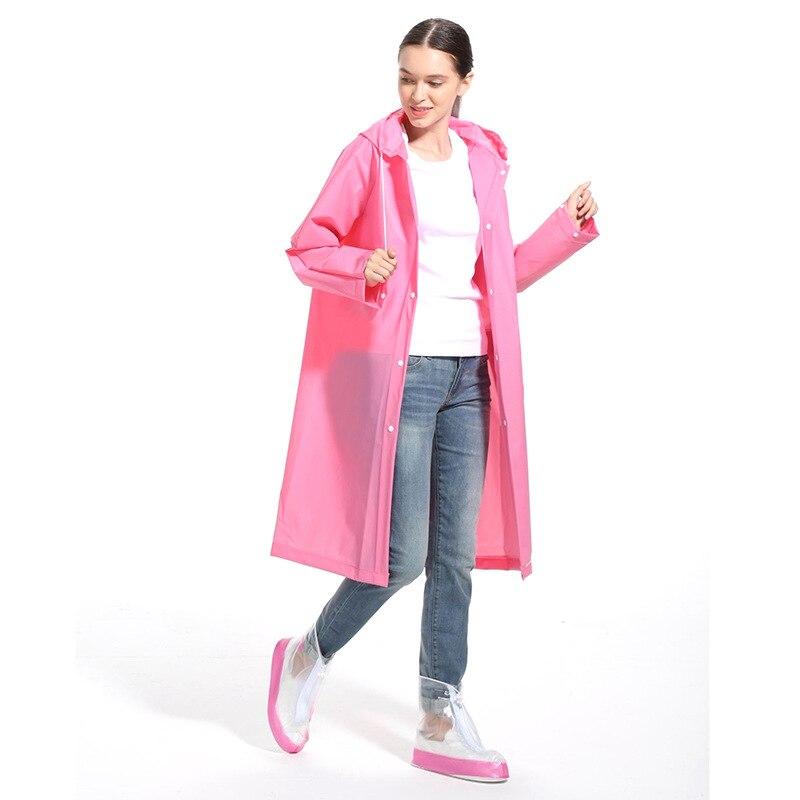 Impermeable de moda EVA para mujer, impermeable grueso, impermeable, impermeable para mujer, transparente, para acampar, impermeable, traje