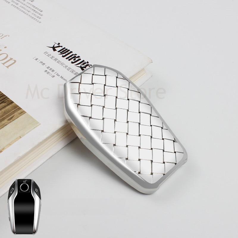 Funda para llave de coche, funda para llave para BMW serie 7 730li serie 5 serie 530li Serie 6 GT, pantalla LCD X3, accesorios de estilo de coche