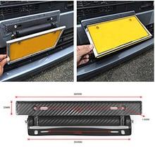 Free delivery 1PC Universal Racing Carbon Fiber Adjustable Number Car License Plate Frame Holder Drop shipping