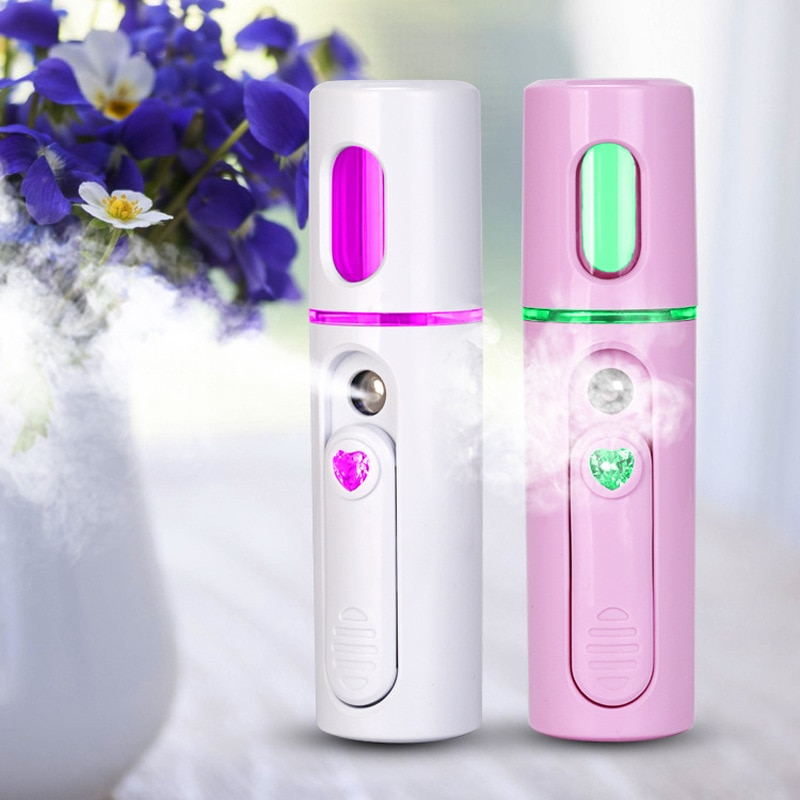 Nano vapor Facial pulverizador de niebla portátil pulverizador Spa suministro de agua Mini USB aerosol Facial instrumento hidratante de agua D35