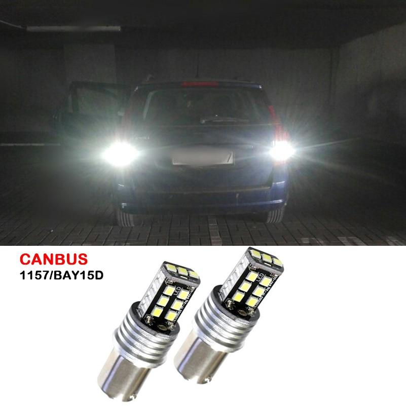 2 uds Canbus coche LED 1157 BAY15D luz de freno trasera de freno señal bombilla de lámpara para Kia Rio Sportage Sorento alma Optima Forte Koup Rondo