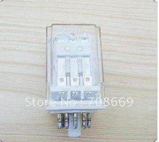Relé electromagnético 10 Uds JQX-10F 10A AC 220V 3Z bobina PCB 11 pines relé de potencia 3PDT
