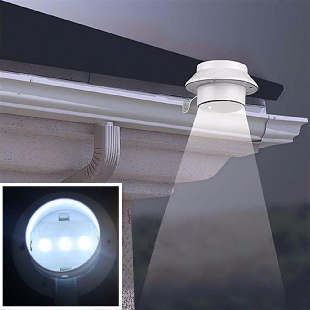 Горячая 3 LED Солнечная энергосберегающая лампа для наружного Сада Пейзаж для двора забор стена желоба на крыше задний двор Освещение ручной лампы