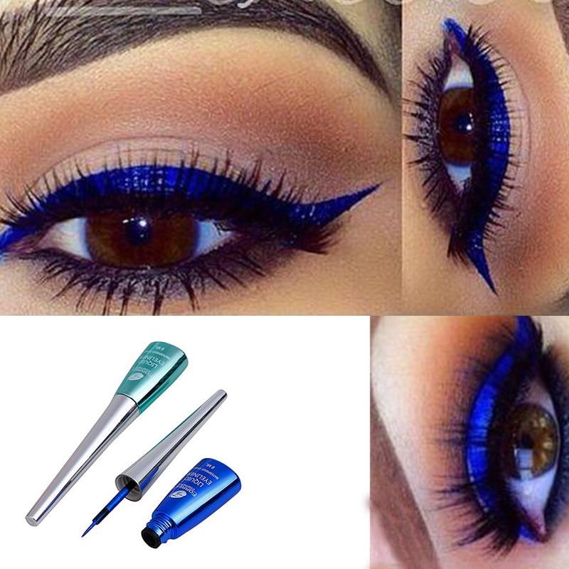 Cmaadu colorful liquid eyeliner blue waterproof long lasting diamond matte gel cosmetics HF153