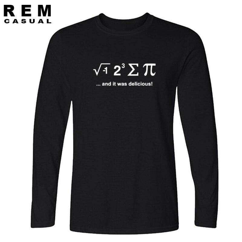 Забавная футболка с надписью «I EAT A PIE PUZZLE geek nerd», футболка с длинным рукавом для мужчин, 2016