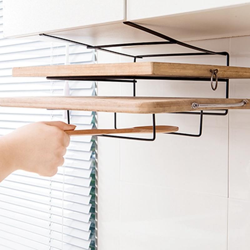 Multi-layer Iron Shelf Multifunctional Cutting Board Storage Cabinet Hanging Holder Cupboards Rack Organizer Kitchen Accessories