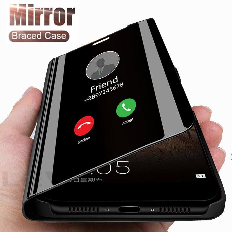 Espejo inteligente Flip funda de teléfono para Xiaomi Redmi Note 7 8 6 5 9T K20 CC9 10 Pro 5A 4X 3 6A 8A Plus caso ventana Ver para Redmi cubierta