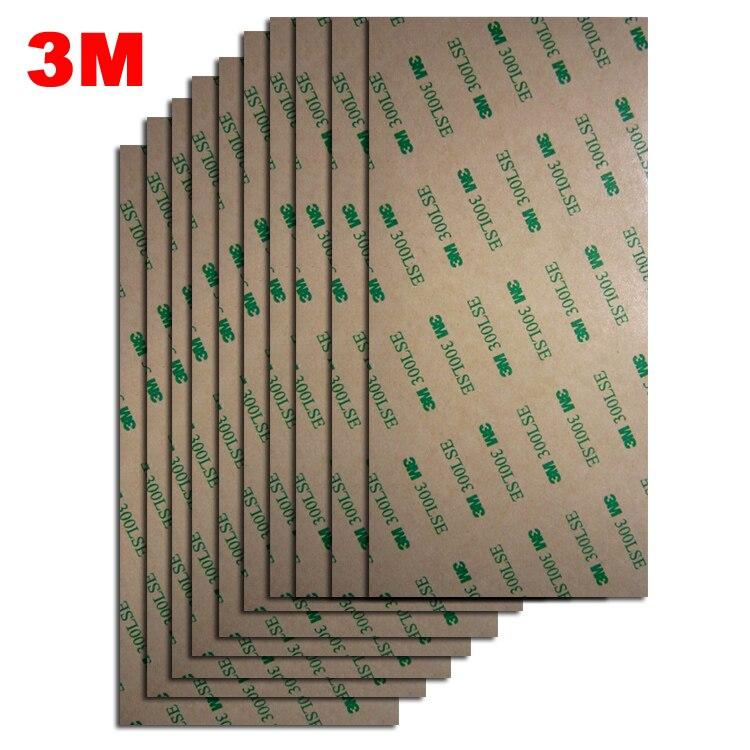 """(4 """"x 8"""") 3M 300LSE 9495LE cinta adhesiva transparente de doble cara para la reparación del LCD del teléfono diamante Bond 10cm x 20cm (10 hojas/lote)"""
