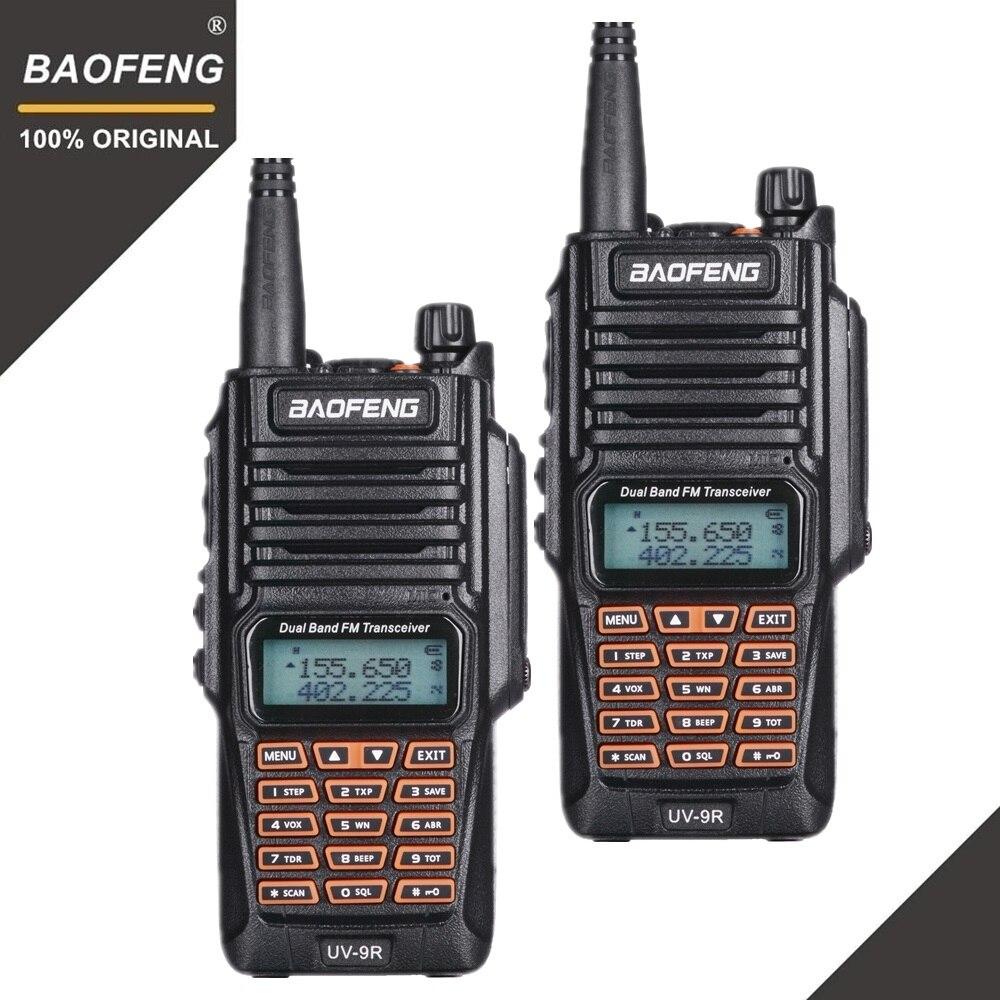 2pcs Baofeng UV-9R   Walkie Talkie Waterproof  Portable IP67 Amateur Two-way Radio Uhf Vhf UV 9R Woki Toki Hunting CB Radio