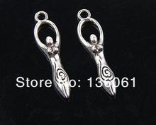 Pendentifs en forme darche-poisson, pendentif en argent Vintage fertilité en étoile de poisson, breloques de verrouillage en croix pour Bracelet en bijoux