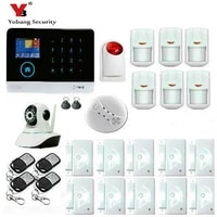 Yobang systeme dalarme sans fil GSM   Securite anglais russe espagnol  systeme dalarme GSM 433MHz  systeme de securite anti-cambrioleur a domicile