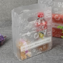Sacs à gâteau 20x30cm, 50 pièces, emballage à pain de qualité alimentaire, pochette cadeau en plastique transparent pour fête et mariage