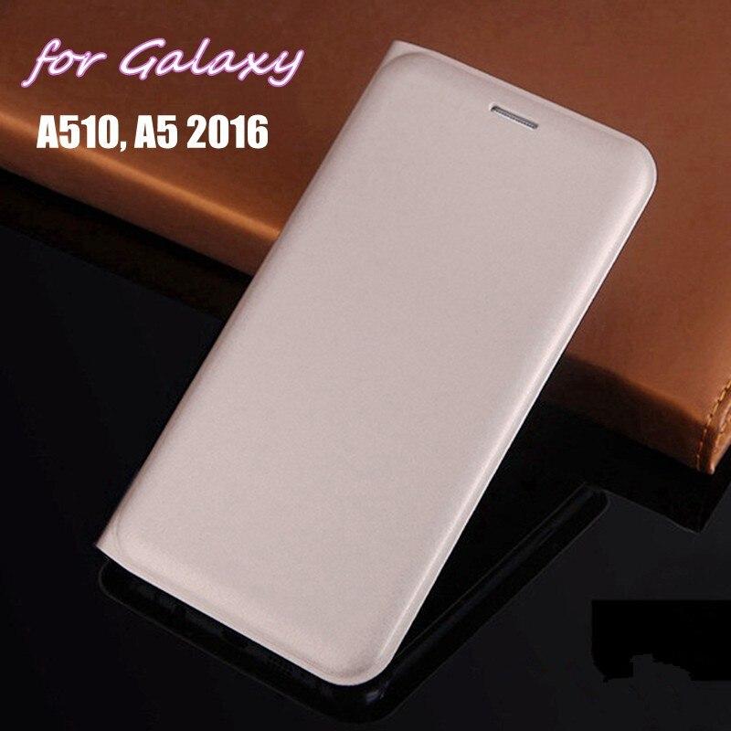Para Samsung Galaxy A5 2016 a510 A510F A510H 5,2 pulgadas cartera delgada Funda de cuero Flip Cover Smart Phone máscara Shell con tarjetero