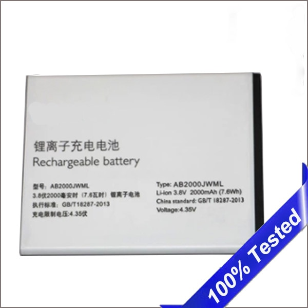 AB2000JWML para Philips Xenium S337 CTS337 batería de teléfono móvil 2000mAh bateria