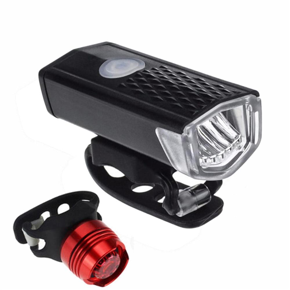 Super brillante USB Led Bicicleta luz recargable Faro y luz trasera conjunto luz Bicicleta Farol Bicicleta