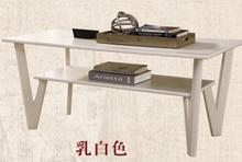 Table de thé de salon contractée, petite table de thé moderne en bois massif de petite famille. La table à thé simple de bureau de mode