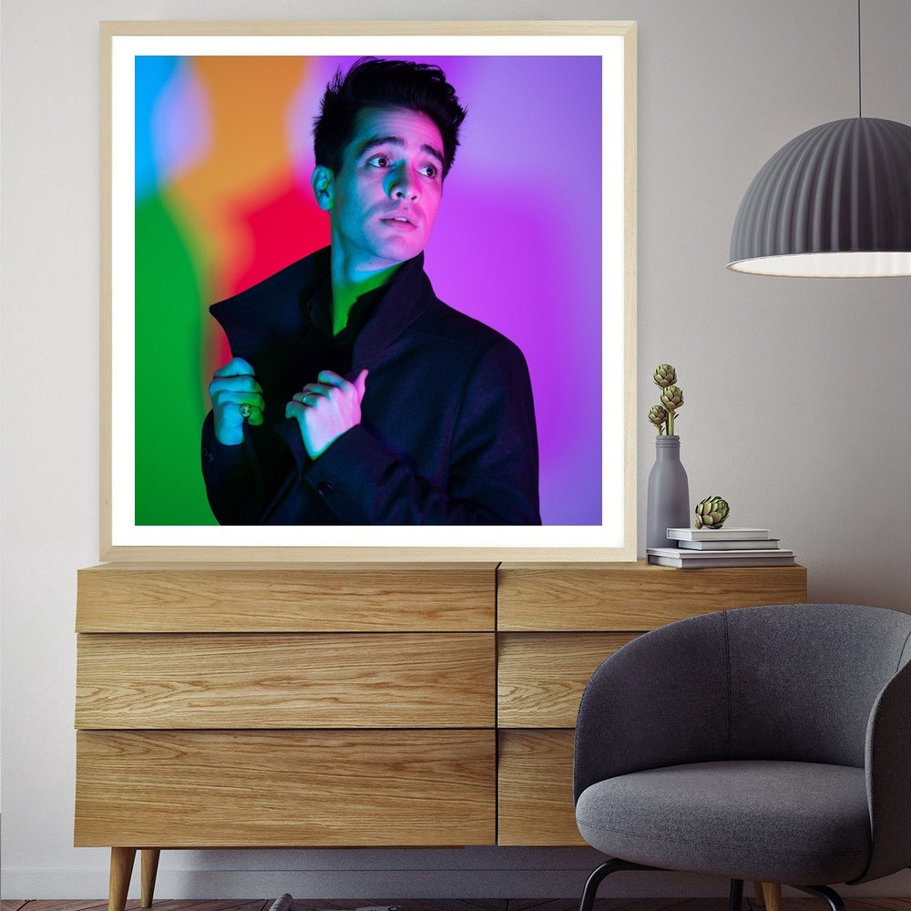 Póster lienzo artístico panic at the disco Brendon Urie póster de música fotos de pared para sala sin marco