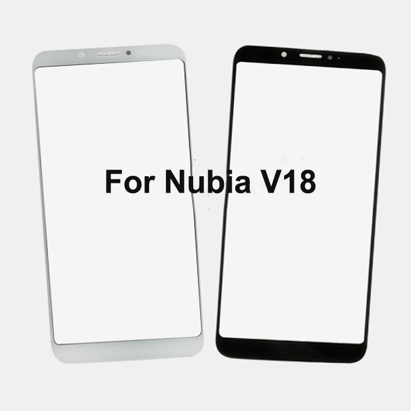 Para Nubia V18 V 18 NubiaV18 Panel táctil digitalizador pantalla cristal Sensor táctil Panel táctil sin Flex