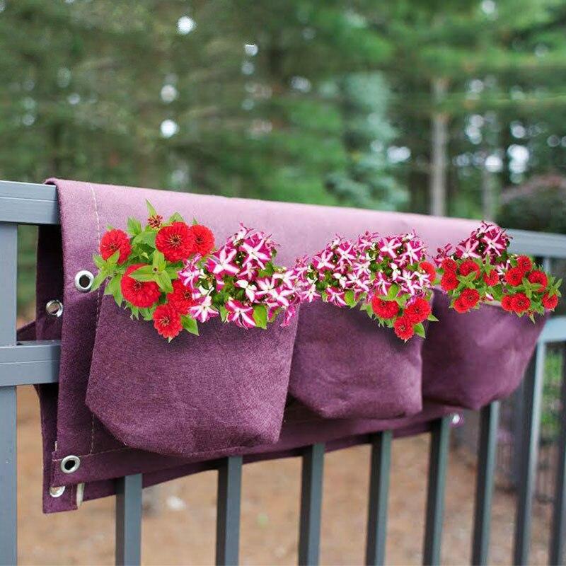 Pocketgarden Wachsen Tasche Taschen Vertikale Pflanzer Wand-mountedFlower Hängen Fühlte Pflanzung Bag Indoor hängen seltsame taschen 62x58cm