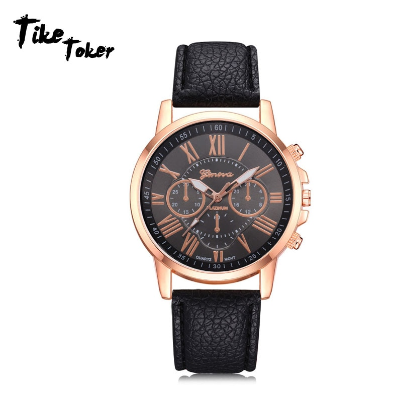 Fashion 2019 New Women's Fashio Faux Leather Analog Quartz Wrist Watch watches woman clock