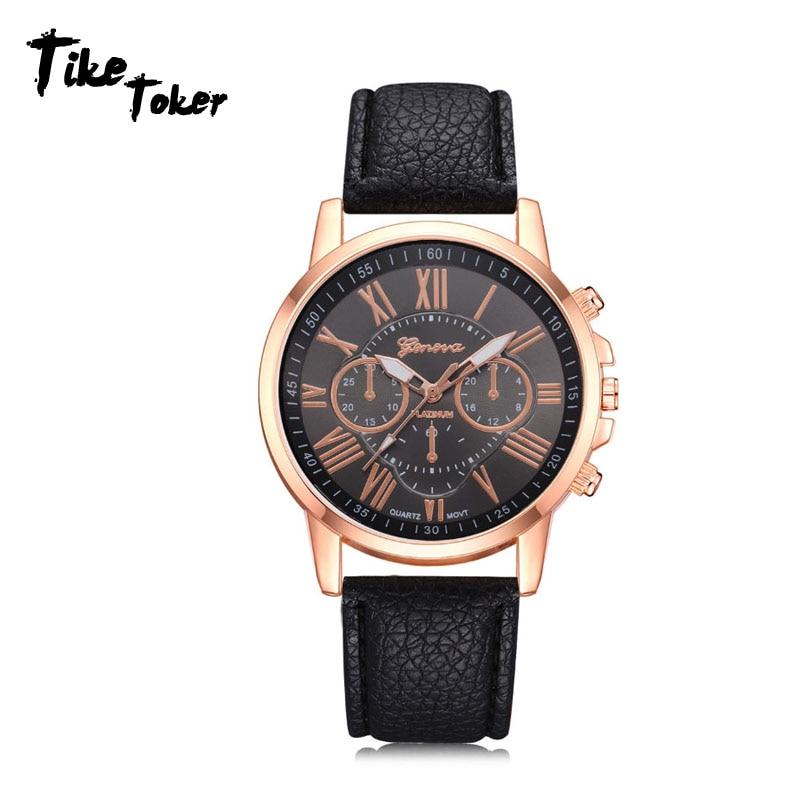Fashion 2019 New Women's Fashio Faux Leather Analog Quartz Wrist Watch watches woman clock