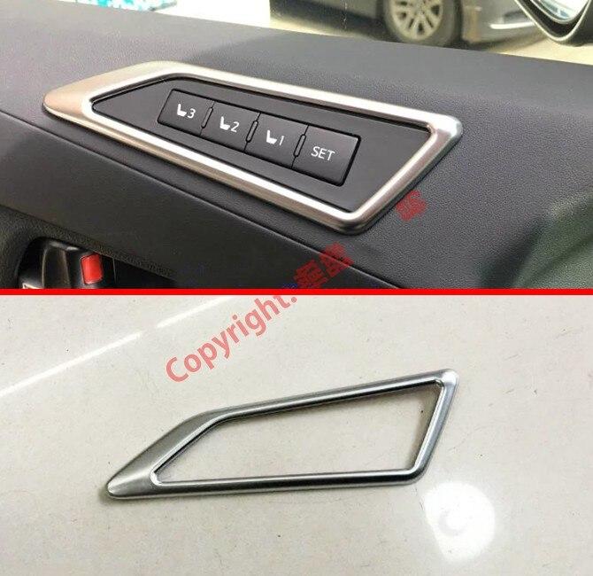 Perlado cromado ABS asiento Interior Ajuste de memoria botón de ajuste de la cubierta para Toyota Alphard Vellfire AH30 2016 2017 2018 2019 2020