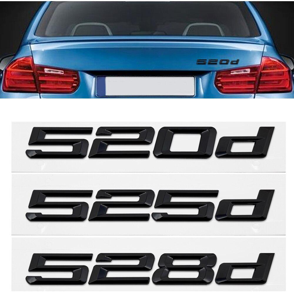 Черный 3D значок крышки багажника для BMW 5 серии 520d 525d 528d X5 E36 E46 F20 F10 стикер с буквенным номером автомобильный Стайлинг авто эмблема наклейка