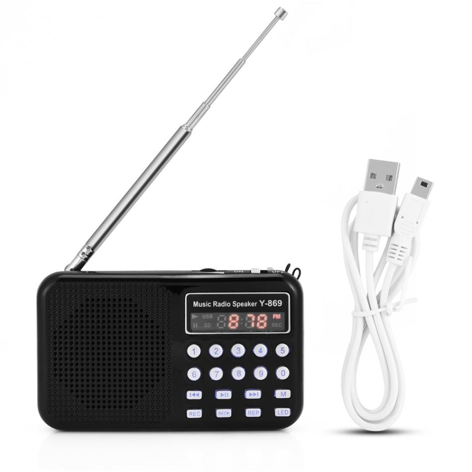 VBESTLIFE, reproductor de Audio Digital portátil, altavoz, linterna LED, compatible con Radio FM, tarjeta TF, disco USB