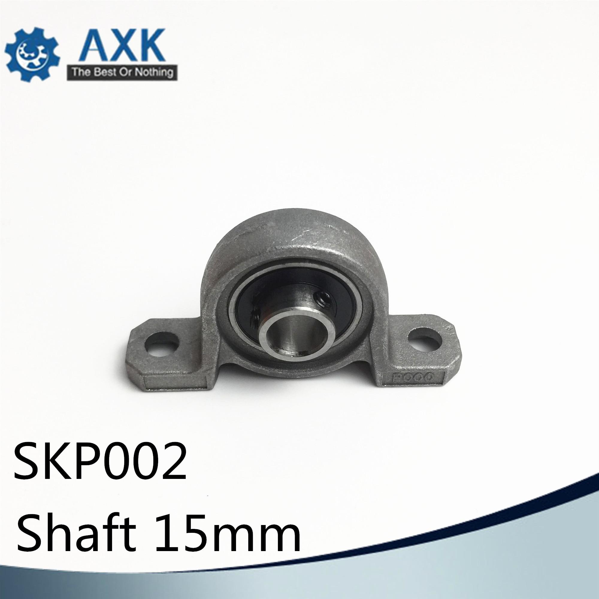 SKP002 تحمل رمح 15 مللي متر (1 قطعة) SSKP002 الفولاذ المقاوم للصدأ وسادة كتلة S KP002 15 مللي متر BearingsAB
